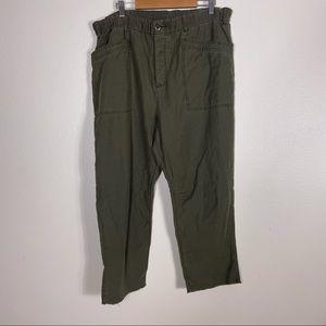 Free People Army Green Soft Capri Pants